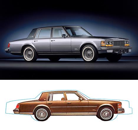 Лаконичные формы первого Cadillac Seville предвосхищают «рубленый» стиль <nobr>80-х</nobr> годов.