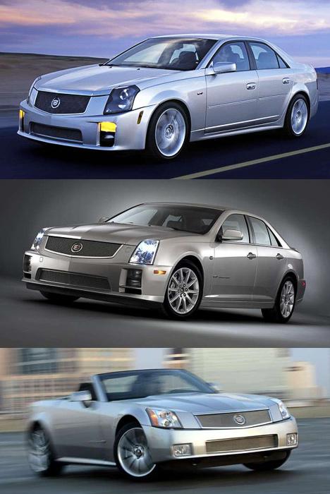 Несколько лет назад Cadillac сказал своё слово в&nbsp;классе «заряженных» автомобилей тремя моделями V&nbsp;Series: <nobr>CTS-V</nobr>, <nobr>STS-V</nobr>, <nobr>XLR-V</nobr> (сверху вниз).