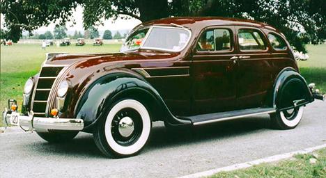 Chrysler Airflow, появившийся в1934году,— первый автомобиль компании, получивший автоматическую коробку передач.