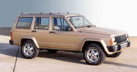 Лучшим внедорожником 1984года был признан появившийся вэтомже году Jeep Cherokee.