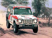 Mitsubishi Pajero знамениты своими успешными выступлениями вралли-рейдах.
