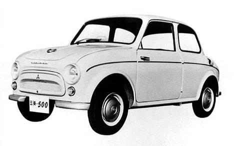 Первая доступная легковая модель Mitsubishi 500.